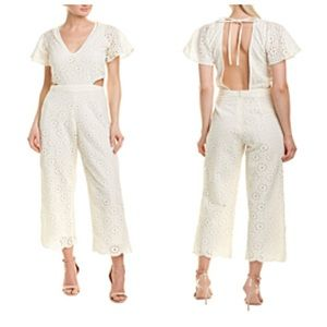 Winston White Jade Jumpsuit In Ivory Size Medium